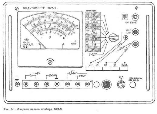 Вольтомметр ВК 7 - 9 Описание,